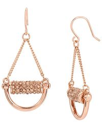 Kenneth Cole - Salt Mines Crystal Pave Chandelier Earrings - Lyst