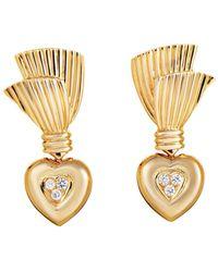 Heritage Van Cleef & Arpels - Van Cleef & Arpels 18k 0.40 Ct. Tw. Diamond Drop Earrings - Lyst