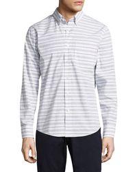 Jack Spade - Palmer Horizontal Variated Stripe Sportshirt - Lyst