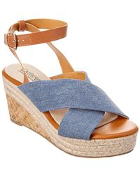 Catherine Malandrino - Newvon Leather-trim Wedge Sandal - Lyst