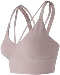 New Balance - Strappy Crop Top - Lyst