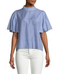 WHIT - Boheme Cotton-blend Top - Lyst