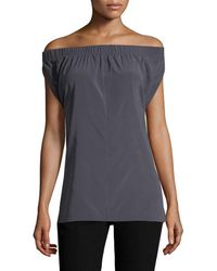 Zero + Maria Cornejo - Ruched Off-the-shoulder Top - Lyst