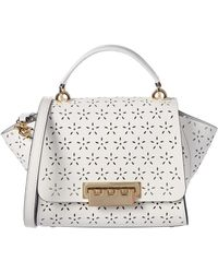 37782606641826 Zac Zac Posen - Eartha Floral Perforated Leather Top-handle Bag - Lyst
