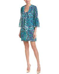 Trina Turk - Bonita Linen-blend Shift Dress - Lyst