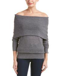 Ella Moss - Off-the-shoulder Wool-blend Pullover - Lyst