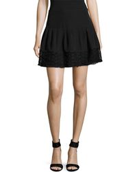 The Letter - Lace Hem Mini Skirt - Lyst