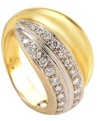 Pomellato - 18k Two-tone 0.42 Ct. Tw. Diamond Ring - Lyst