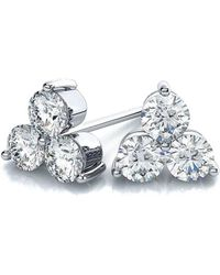 Suzy Levian - 14k Gold 0.20 Ct. Tw. Diamond Cluster Earrings - Lyst