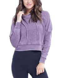 Balance Collection - The Crop Peached Hoodie - Lyst