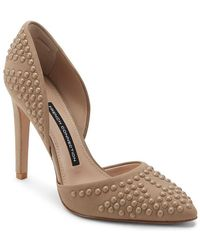 64b113369bc French Connection - Maggie Studded Leather Pump - Lyst