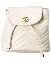 42aeffc22cf6 Gucci Gg Marmont Quilted Leather Backpack in Pink - Lyst
