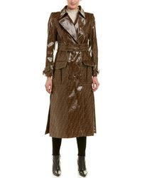 Fendi - Waxed Silk-lined Raincoat - Lyst