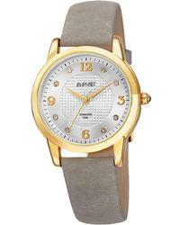 August Steiner | Women's Genuine Leather Diamond Watch | Lyst