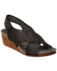 Chocolat Blu - Theo Leather Wedge Sandal - Lyst
