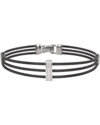 Alor - 14k White Gold Diamond Cable Bracelet - Lyst
