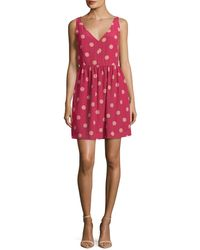 RED Valentino Abiti Donna Silk Printed Flare Dress