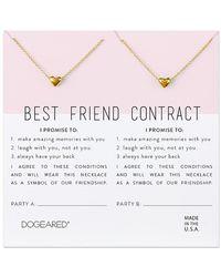 Dogeared - 14k Over Silver Best Friend Necklace Set - Lyst