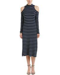 Splendid - Dune Striped Cold-shoulder Dress - Lyst