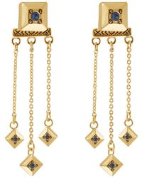 House of Harlow 1960 - 1960 14k Plated Crystal Drop Earrings - Lyst