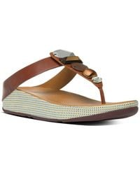 Fitflop - Jewellery Leather Sandal - Lyst