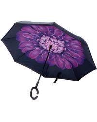 Unique Umbrellas - Purple Flower Umbrella - Lyst