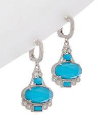 Judith Ripka - Aspen Silver Drop Earrings - Lyst