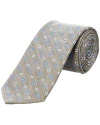 Façonnable - Grey Floral Silk Tie - Lyst