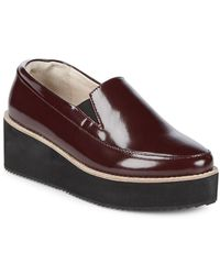Sol Sana Tabbie Leather Platform Loafers - Multicolor