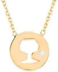 Gabi Rielle - 22k Over Silver Cz Wine Lover Pendant Necklace - Lyst