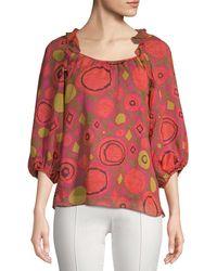 Nanette Lepore - Printed Silk Blouse - Lyst