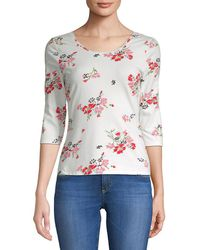 Rebecca Taylor - Marguerite Printed Jersey Top - Lyst