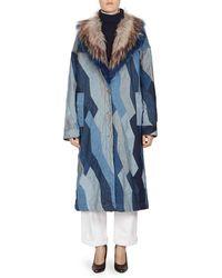 Dries Van Noten - Faux Fur & Denim Patchwork Jacket - Lyst