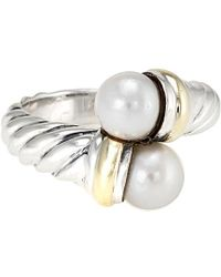 David Yurman - David Yurman Cable 14k & Silver 6mm Pearl Ring - Lyst