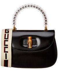 f5558c122 Lyst - Gucci Bamboo Classic Printed Textured-leather Shoulder Bag in ...