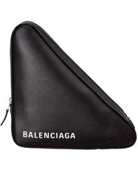 Balenciaga - Black Medium Triangle Pouch - Lyst
