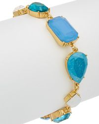 Carolee - Crackled Stones Cz Flex Bracelet - Lyst