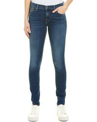 7 For All Mankind - 7 For All Mankind Gwenevere Blue Skinny Jean - Lyst