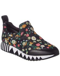 3ad189046 Tory Burch - Floral Printed Jupiter Leather-trim Sneaker - Lyst