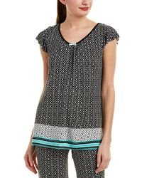 Ellen Tracy - Shirred Pyjama Top - Lyst