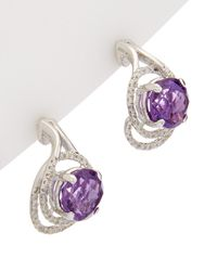Effy - Fine Jewelry 14k 4.34 Ct. Tw. Diamond & Amethyst Drop Earrings - Lyst