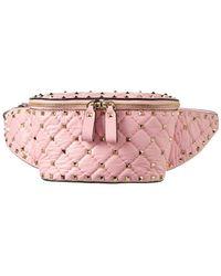 Valentino - Small Rockstud Leather Belt Bag - Lyst