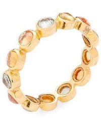 Adornia - Fine Jewellery 18k Yellow Gold 2.00 Ct. Tw. Sapphire Eternity Ring - Lyst