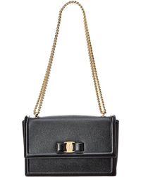 Ferragamo - Medium Ginny Leather Shoulder Bag - Lyst