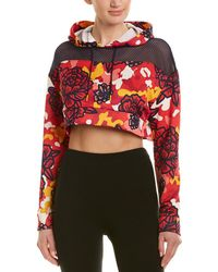 PUMA - Flourish Touch Of Life Cropped Hoodie (hibiscus Multi) Clothing - Lyst