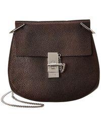Chloé - Black Leather Drew Bag - Lyst