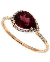 Meira T - 14k 0.49 Ct. Tw. Diamond & Rhodolite Ring - Lyst