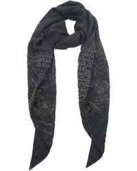 Hermès - Navy Silk Shawl - Lyst