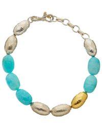 Gurhan - Cocoon 24k & Silver Amazonite Bracelet - Lyst