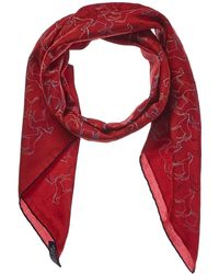 """Hermès - """"tampon Equestre,"""" By Gianpaolo Pagni Silk-blend Scarf - Lyst"""